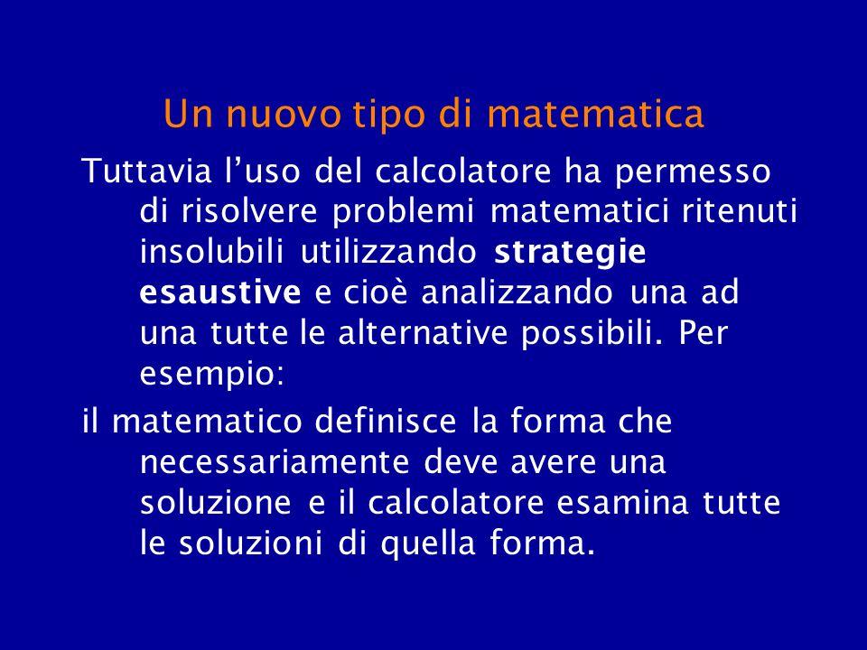 Un nuovo tipo di matematica