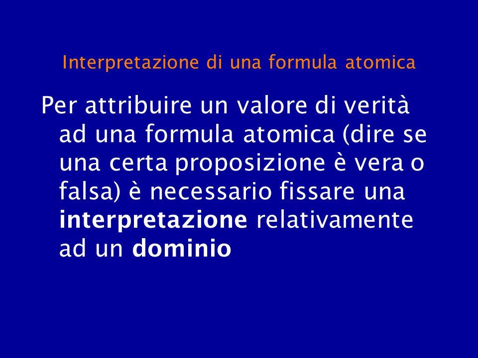 Interpretazione di una formula atomica