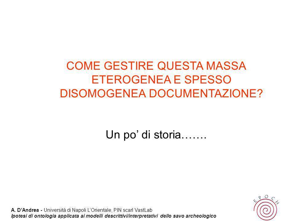 COME GESTIRE QUESTA MASSA ETEROGENEA E SPESSO DISOMOGENEA DOCUMENTAZIONE