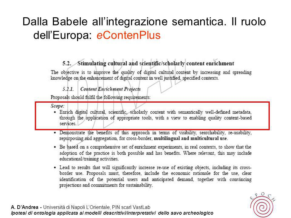 Dalla Babele all'integrazione semantica
