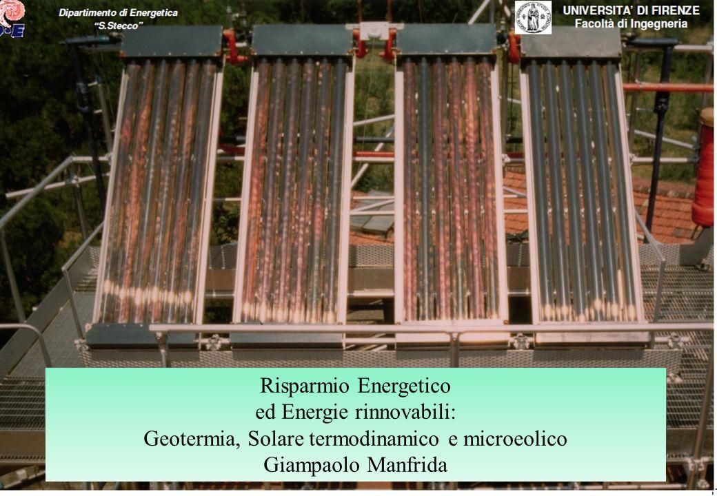 ed Energie rinnovabili: Geotermia, Solare termodinamico e microeolico