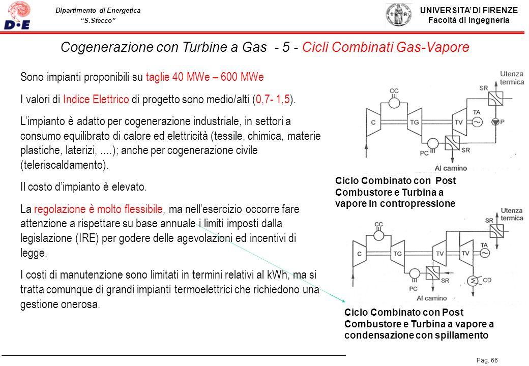 Cogenerazione con Turbine a Gas - 5 - Cicli Combinati Gas-Vapore