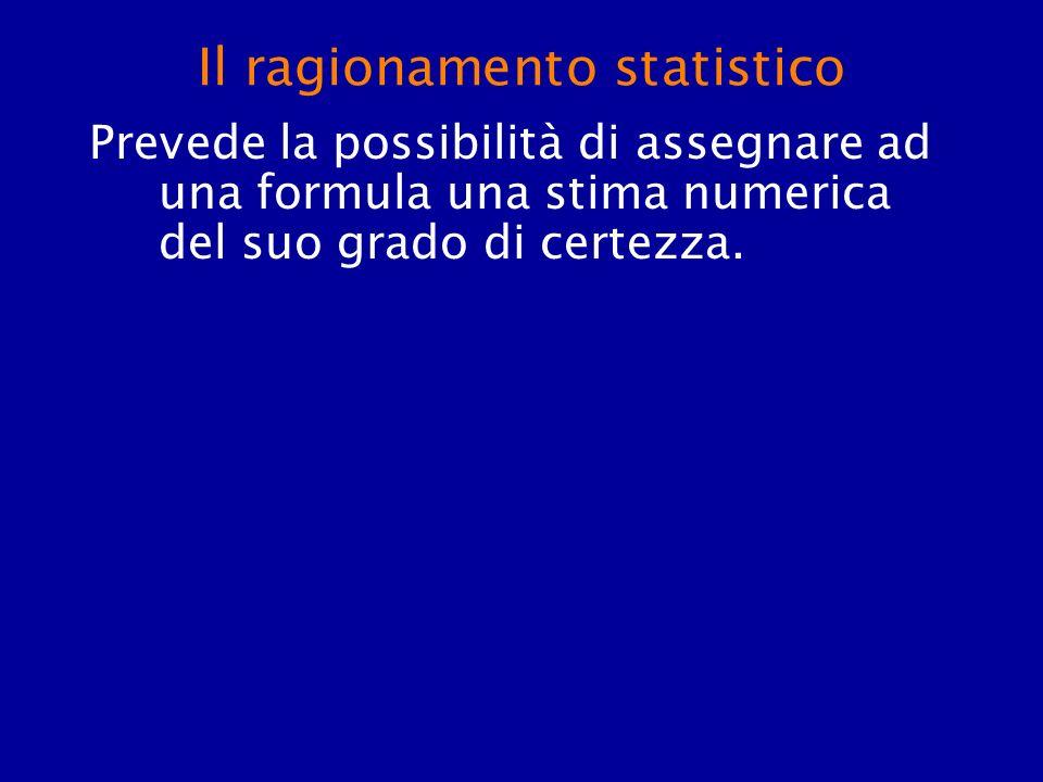 Il ragionamento statistico