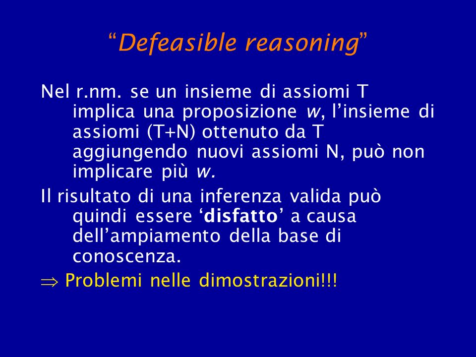 Defeasible reasoning