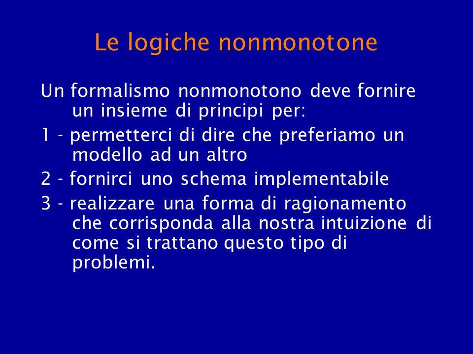 Le logiche nonmonotone