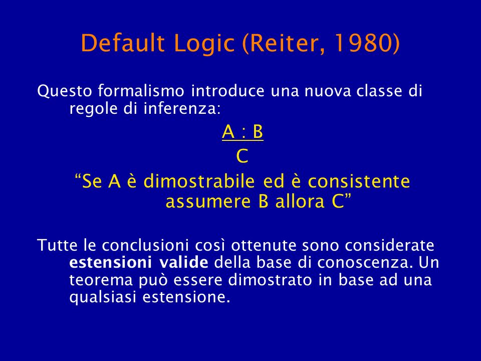 Default Logic (Reiter, 1980)