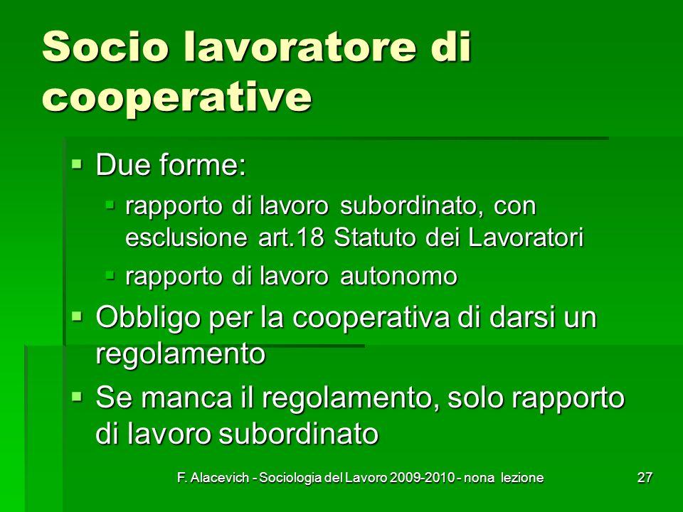 Socio lavoratore di cooperative
