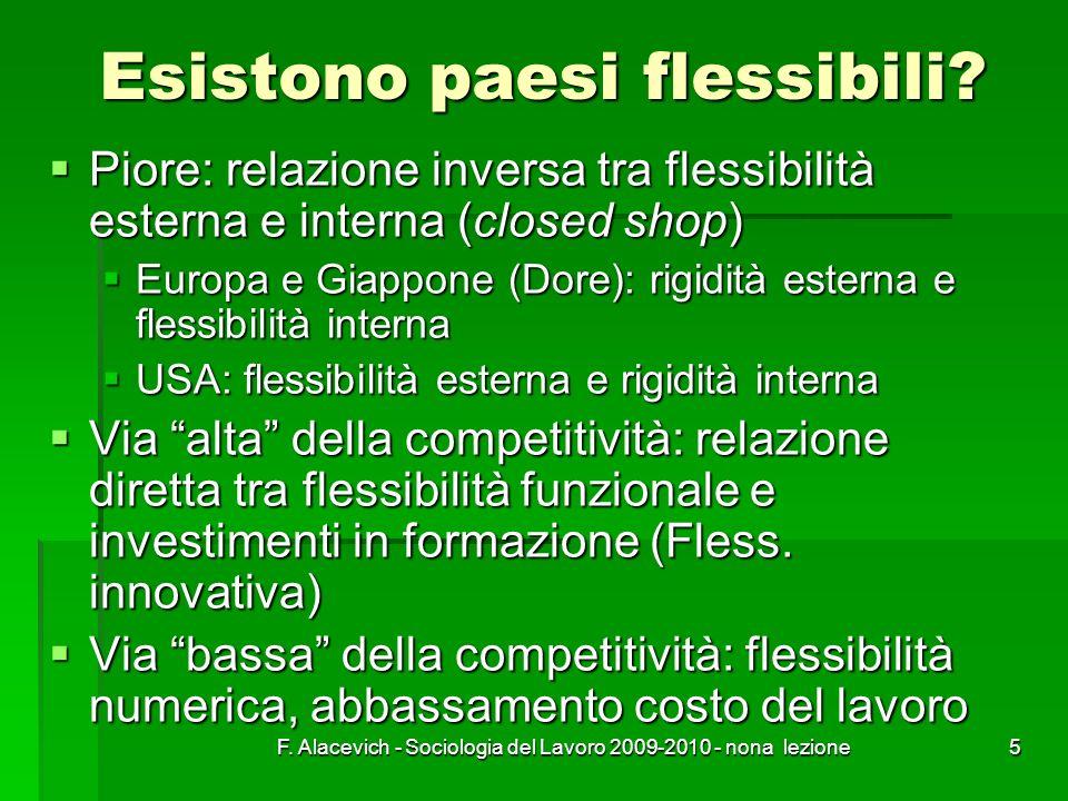 Esistono paesi flessibili