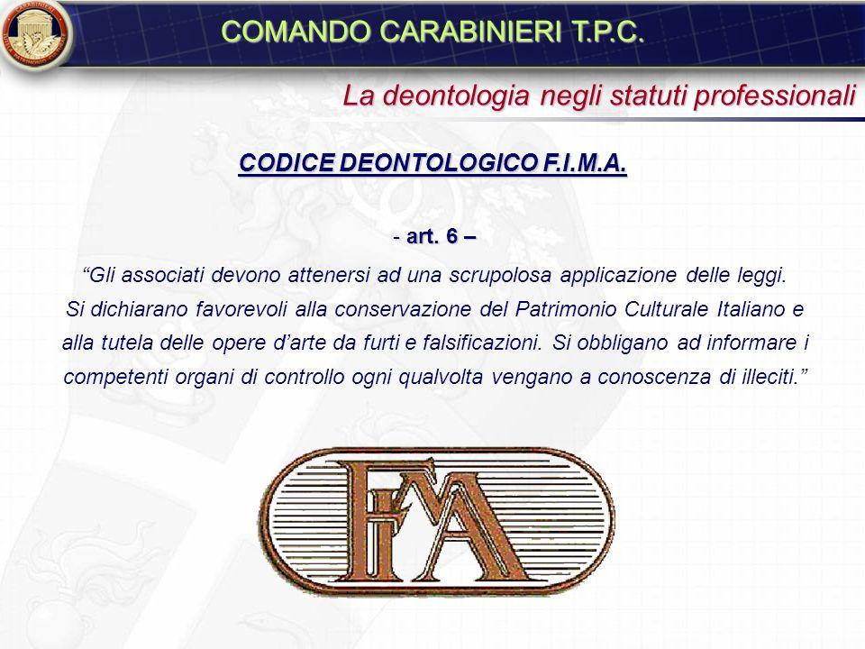 CODICE DEONTOLOGICO F.I.M.A.