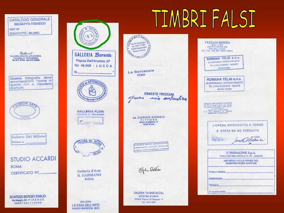 TIMBRI FALSI