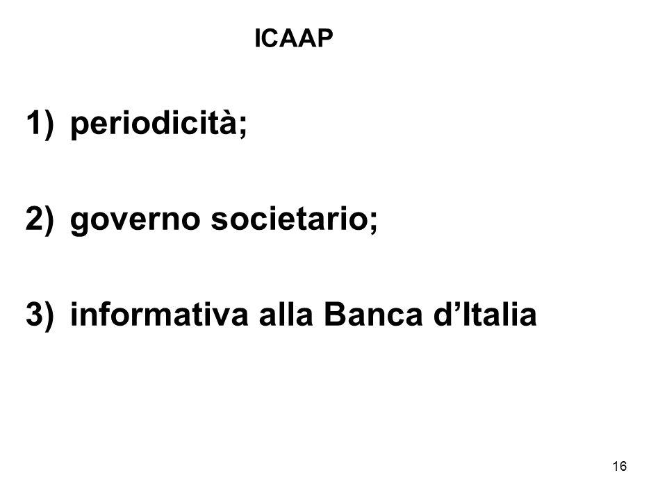 informativa alla Banca d'Italia