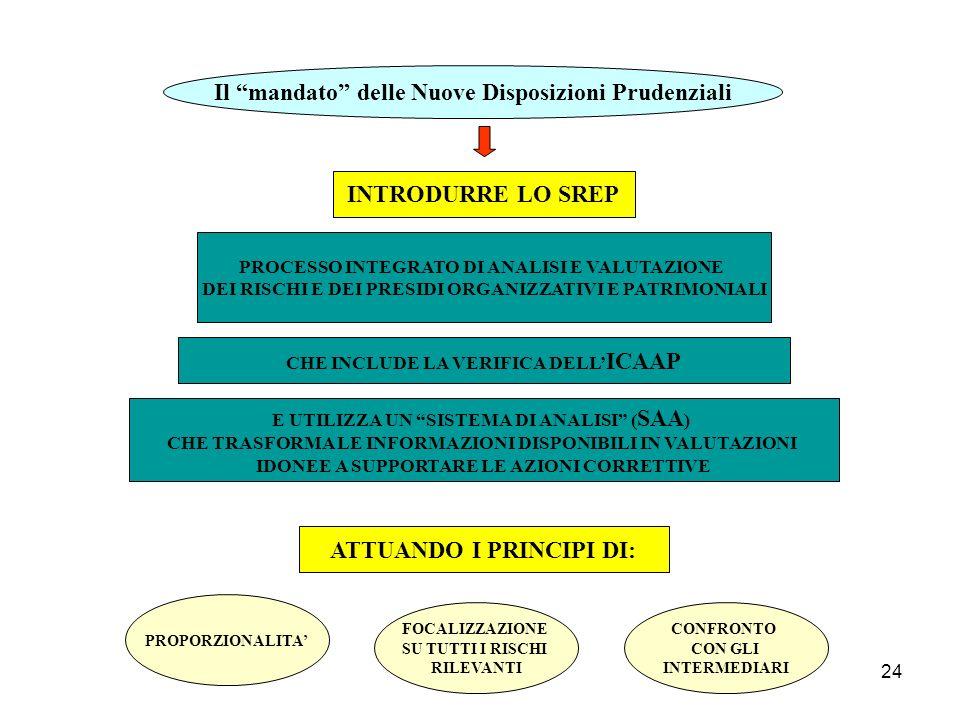 Il mandato delle Nuove Disposizioni Prudenziali