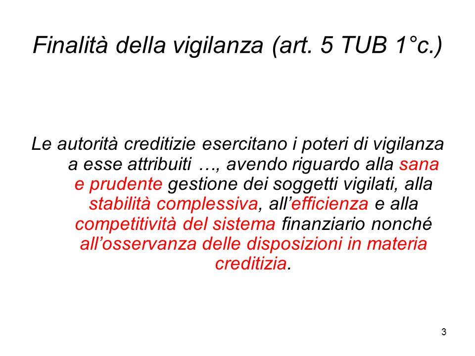 Finalità della vigilanza (art. 5 TUB 1°c.)