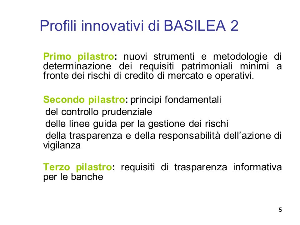 Profili innovativi di BASILEA 2