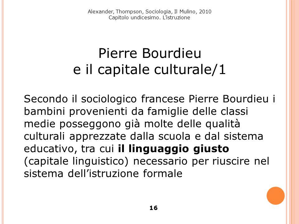 e il capitale culturale/1