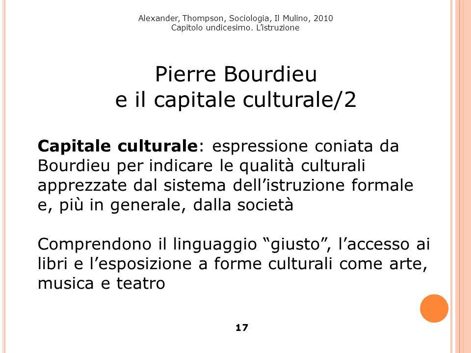 e il capitale culturale/2