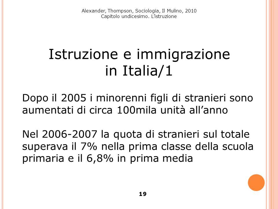 Istruzione e immigrazione