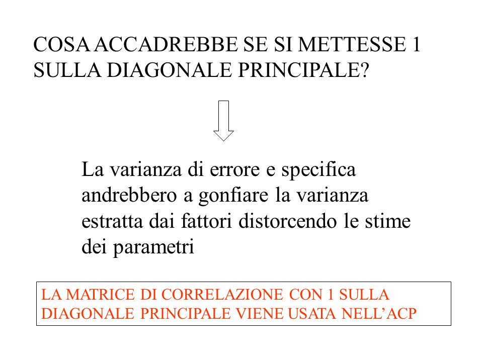 COSA ACCADREBBE SE SI METTESSE 1 SULLA DIAGONALE PRINCIPALE