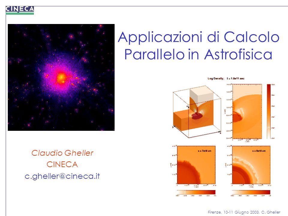 Applicazioni di Calcolo Parallelo in Astrofisica