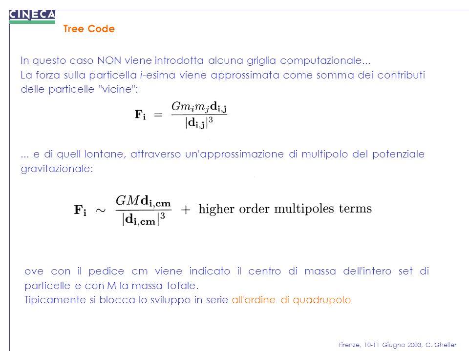 Tree Code In questo caso NON viene introdotta alcuna griglia computazionale...