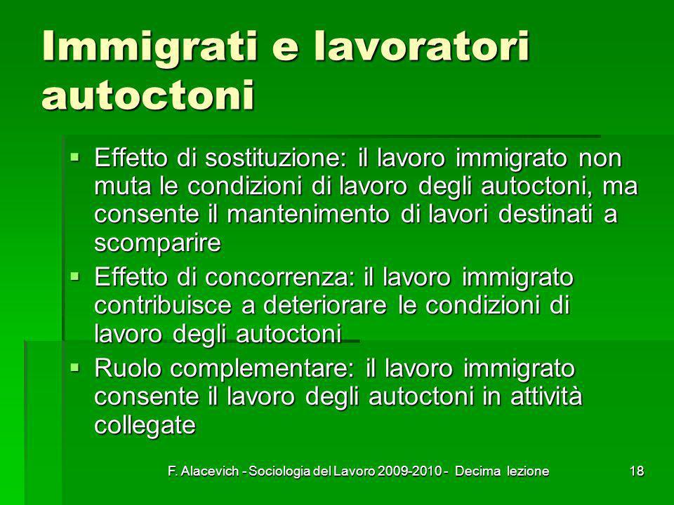 Immigrati e lavoratori autoctoni