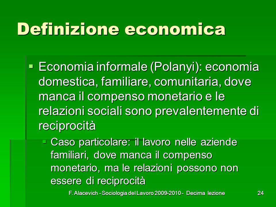 Definizione economica
