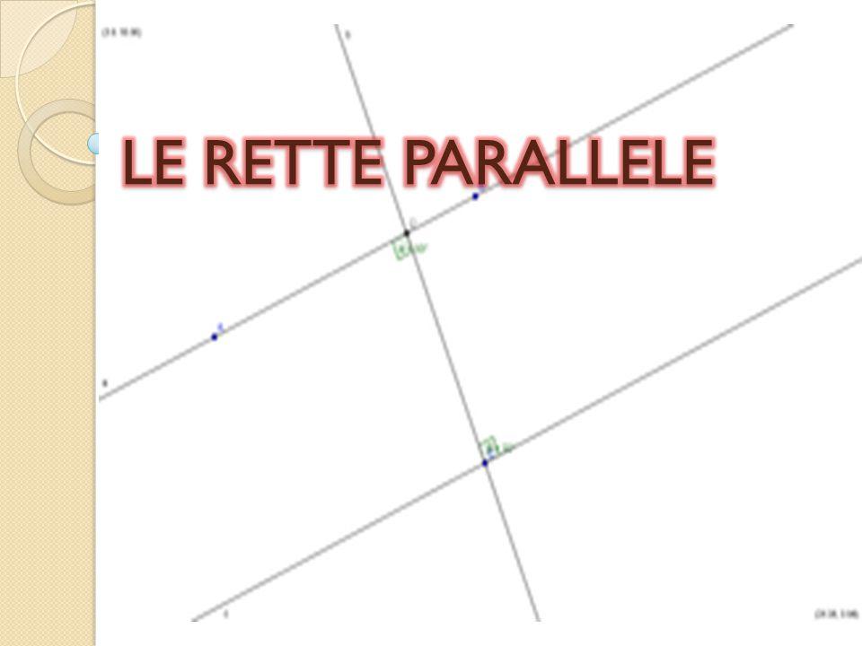 LE RETTE PARALLELE