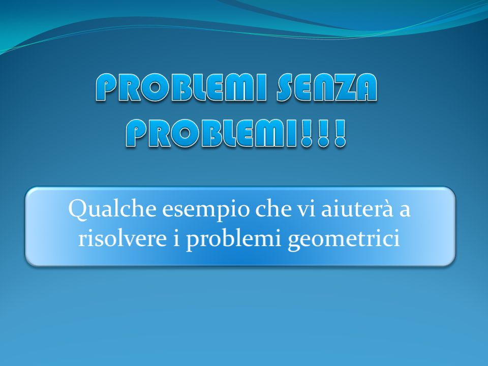 PROBLEMI SENZA PROBLEMI!!!