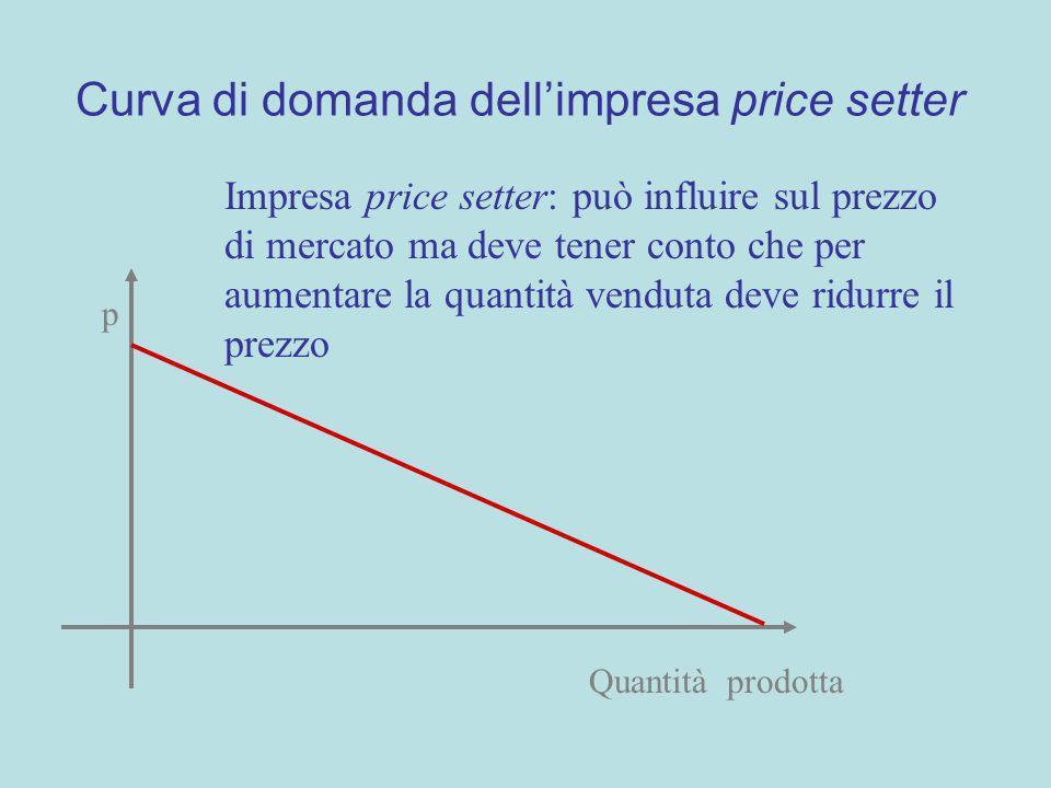 Curva di domanda dell'impresa price setter