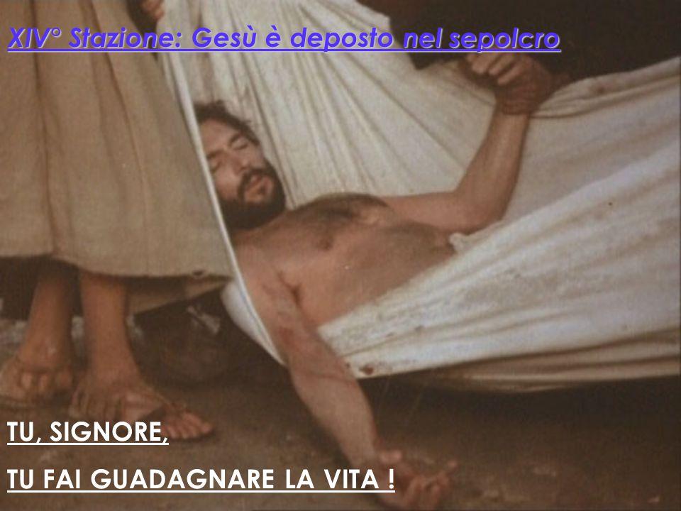 XIV° Stazione: Gesù è deposto nel sepolcro
