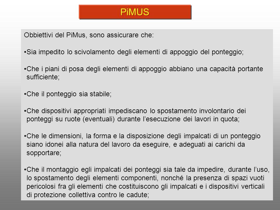 PiMUS Obbiettivi del PiMus, sono assicurare che: