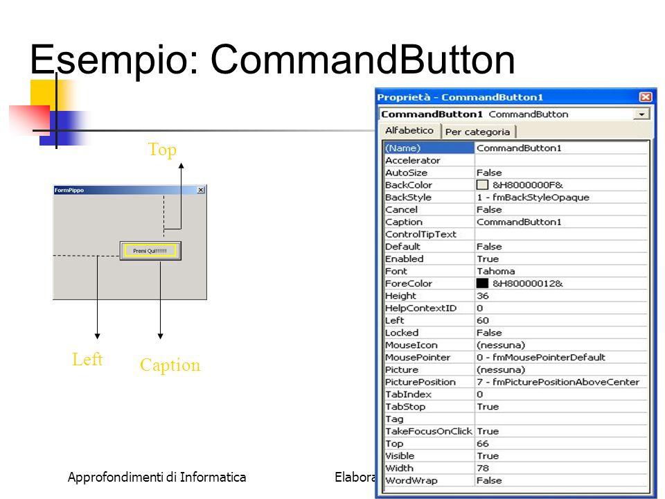Esempio: CommandButton
