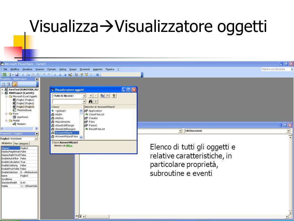 VisualizzaVisualizzatore oggetti