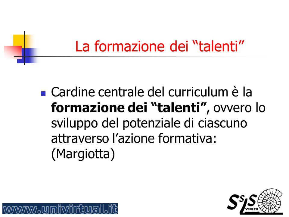 La formazione dei talenti