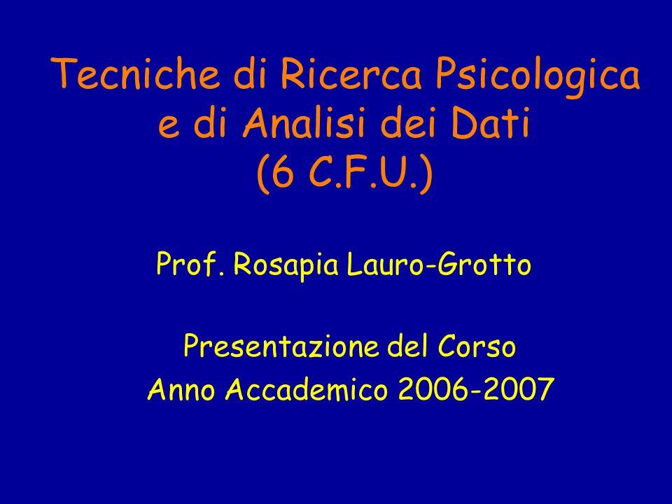 Presentazione del Corso Anno Accademico 2006-2007