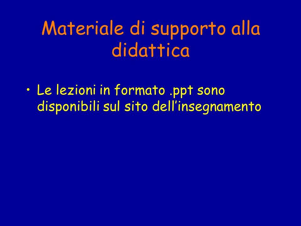 Materiale di supporto alla didattica