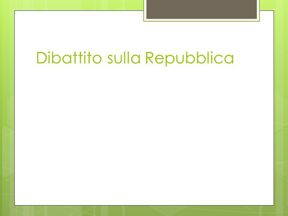 Dibattito sulla Repubblica