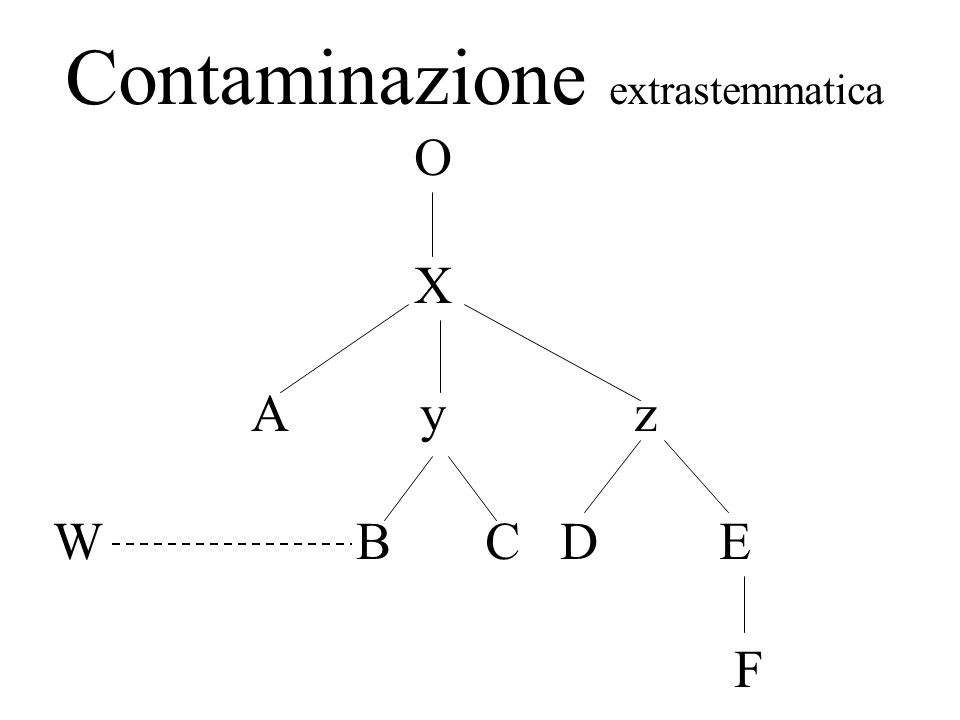 Contaminazione extrastemmatica