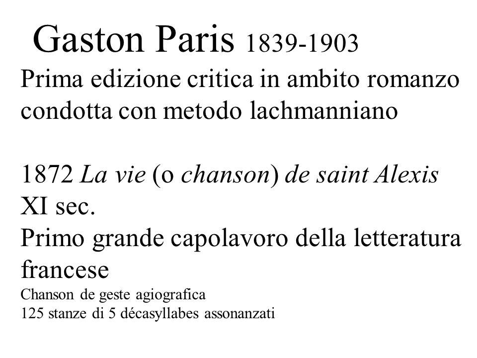 1872 La vie (o chanson) de saint Alexis XI sec.
