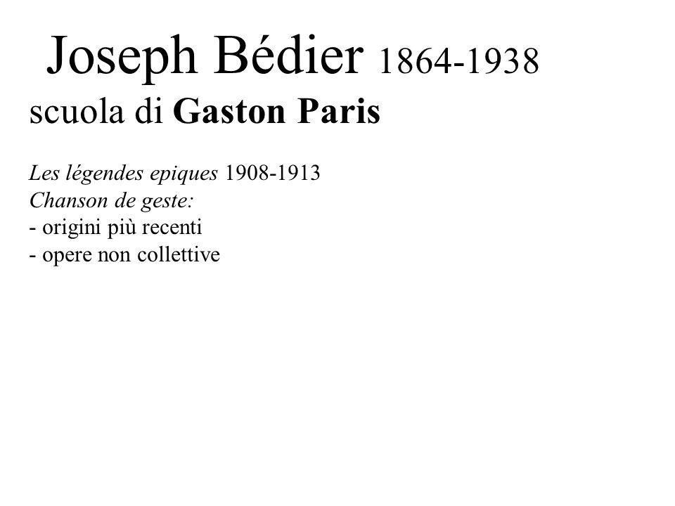 scuola di Gaston Paris Joseph Bédier 1864-1938