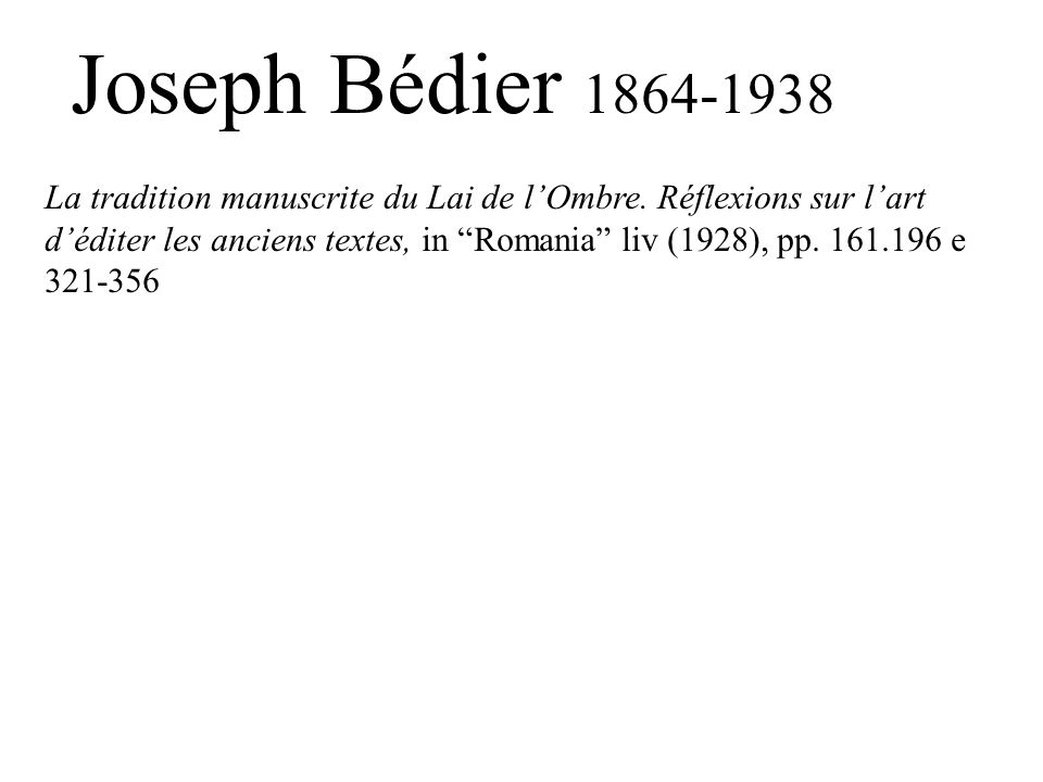 Joseph Bédier 1864-1938