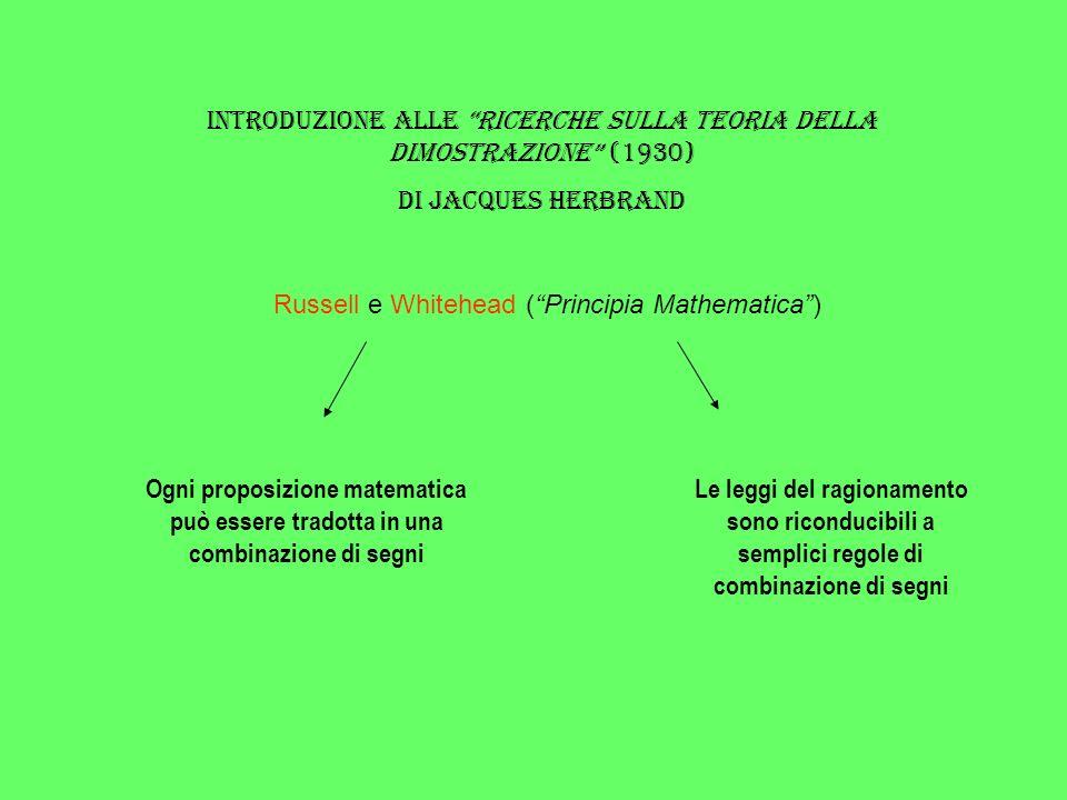 Introduzione alle Ricerche sulla teoria della dimostrazione (1930)