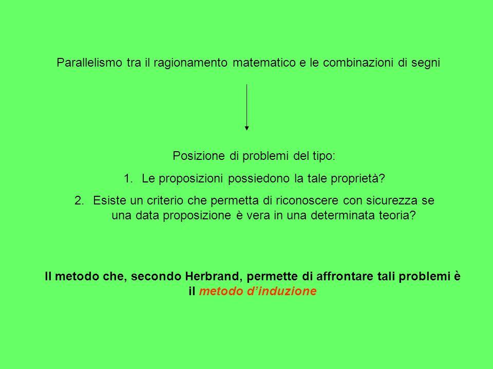 Parallelismo tra il ragionamento matematico e le combinazioni di segni