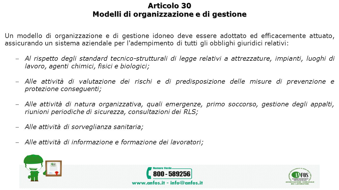 Modelli di organizzazione e di gestione