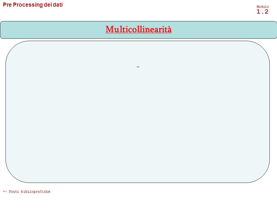 Multicollinearità - Pre Processing dei dati Modulo 1.2