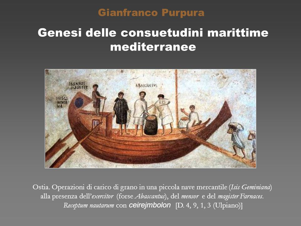 Genesi delle consuetudini marittime mediterranee