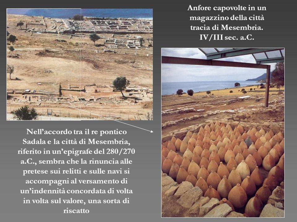 Anfore capovolte in un magazzino della città. tracia di Mesembria. IV/III sec. a.C.