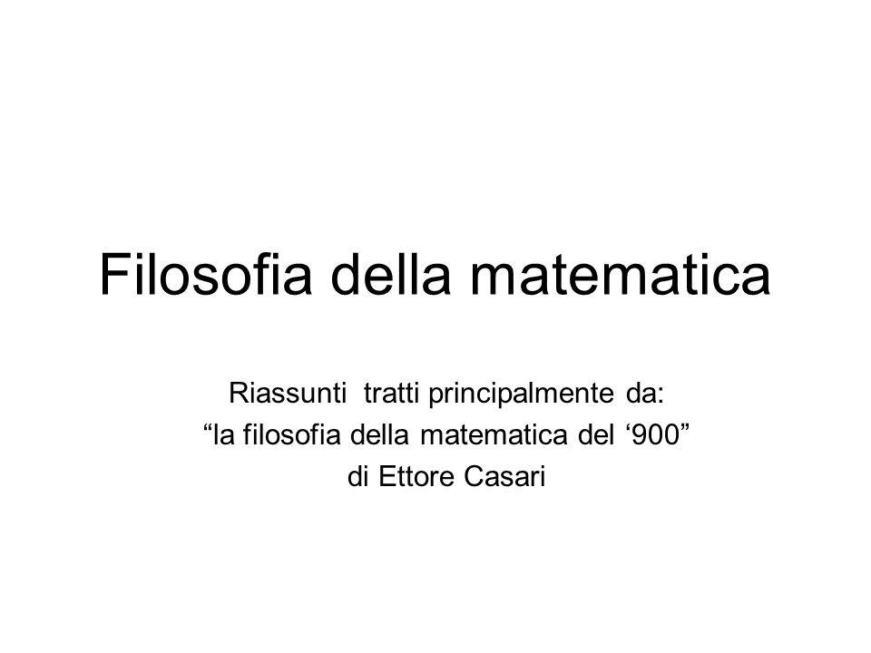 Filosofia della matematica