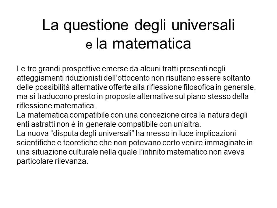 La questione degli universali e la matematica