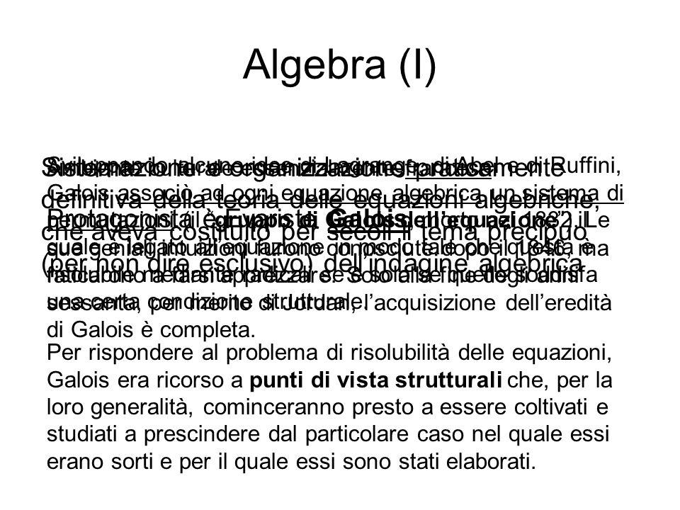 Algebra (I)